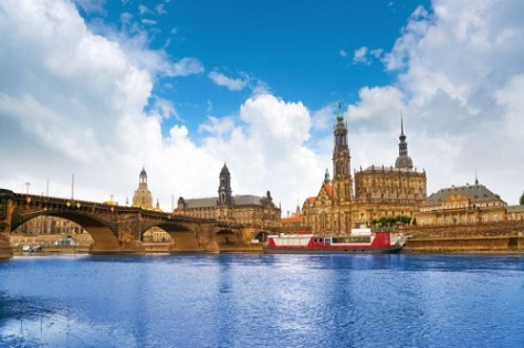 A view of dresden skyline and elbe river for students who want to immigrate to Germany