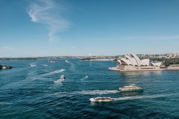 A scenic view of the opera house in australia