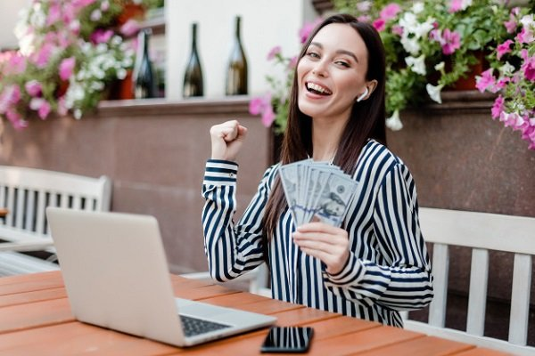 Woman happy about getting student loan forgiveness