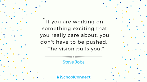 If you are working on something exciting that you really care about, you don't have to be pushed. The vision pulls you. -Steve Jobs