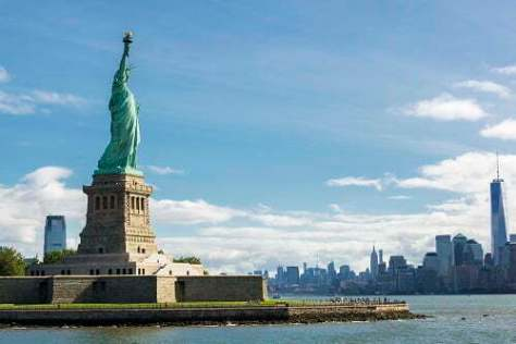 Statue of Statue of Liberty and the New York City Skylinef Liberty and the New York City Skyline