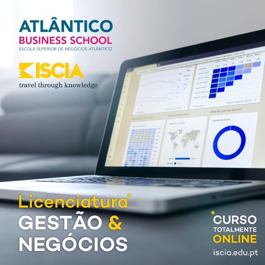 ISCIA licenciatura gestão de negócios atlêntico business school 2021