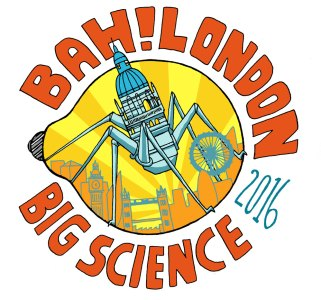 Bah!London poster with St. Paul's cathedral on bug legs