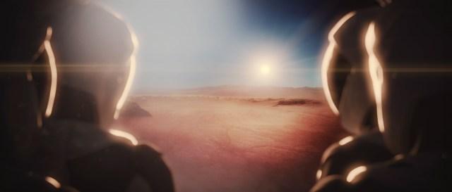 Astronauts in desert