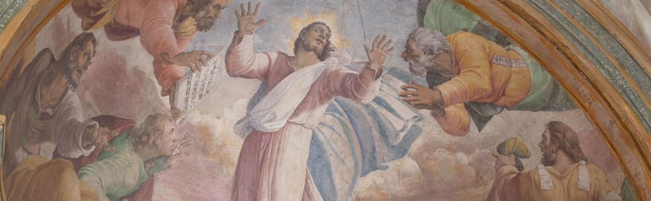 image of Christ painted on a ceiling