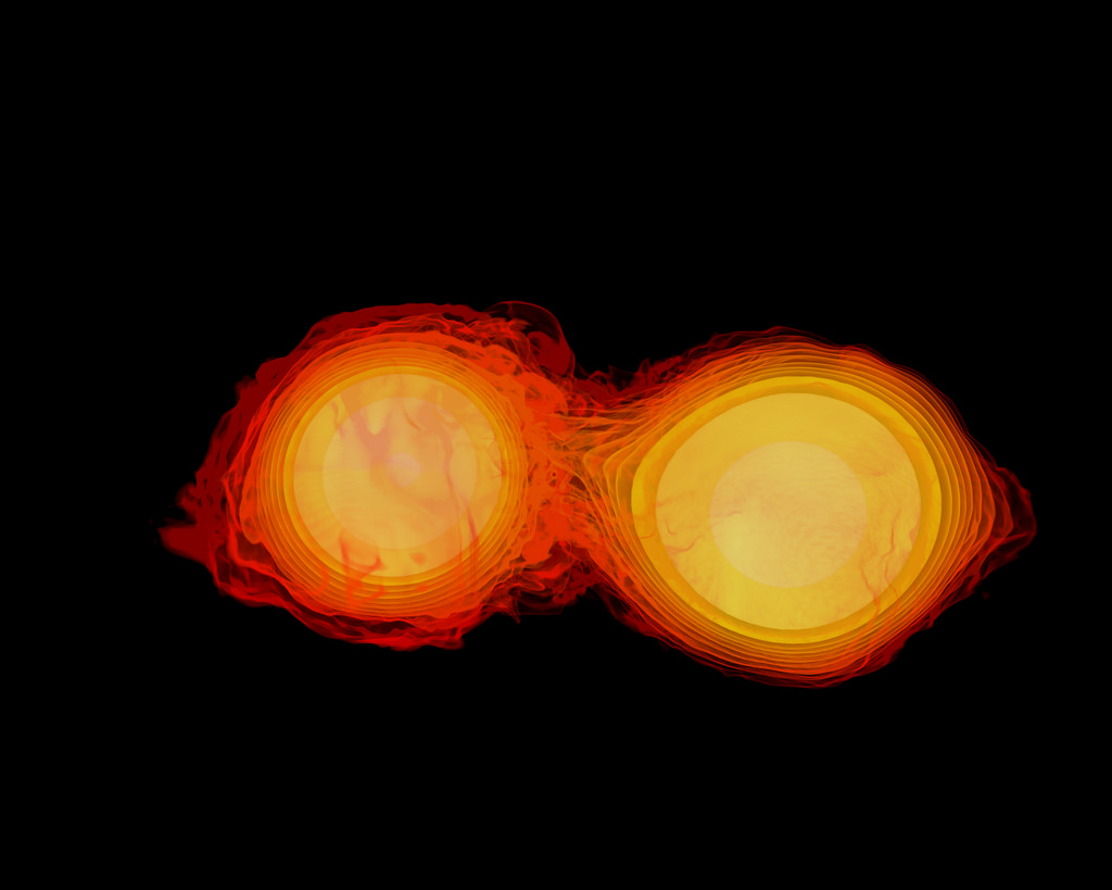 Neutron Stars- 2 stars very close to one another