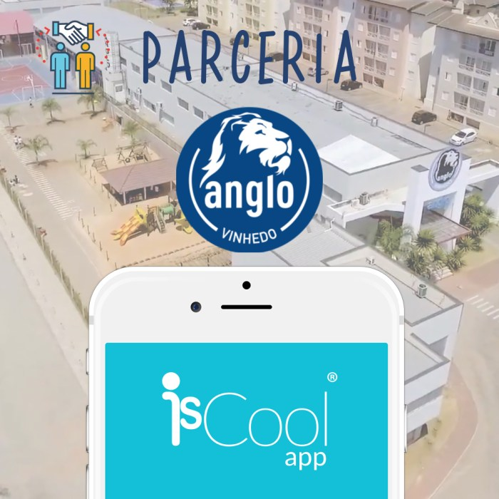 IsCool App-Anglo Vinhedo