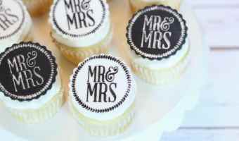 Easy Edible Wedding Cupcake Toppers