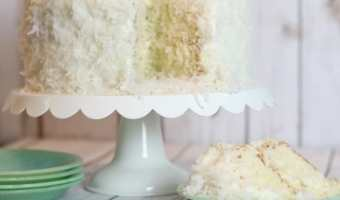 Coconut Cake with Sour Cream Buttercream