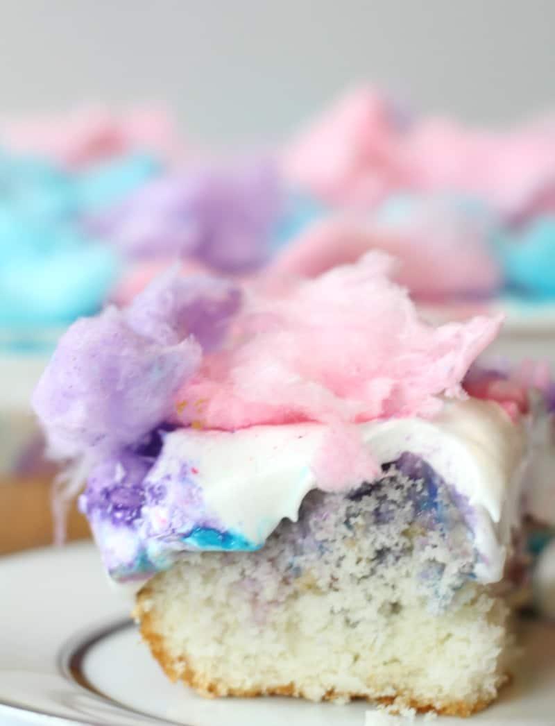 Cotton Candy Poke Cake 14