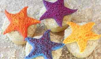 Colorful Starfish Cupcakes