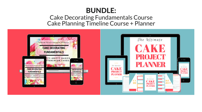 Cake Fundamentals & Planning Course Bundle