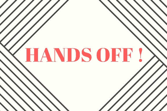 Hands Off Sign