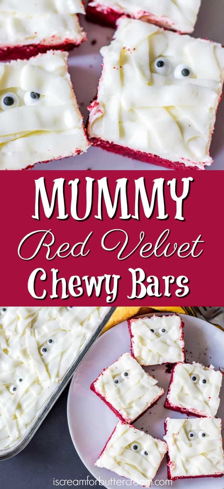Mummy Red Velvet Chewy Bars