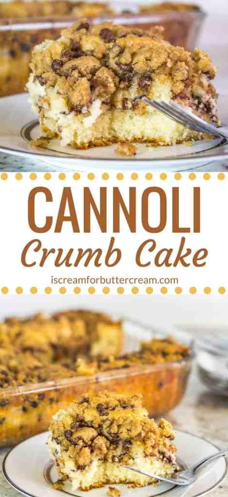 Cannoli Crumb Cake Pinterest Graphic