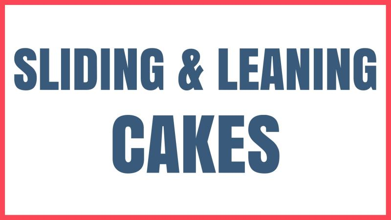 Cake Problem Sliding and Leaning Cakes Graphic