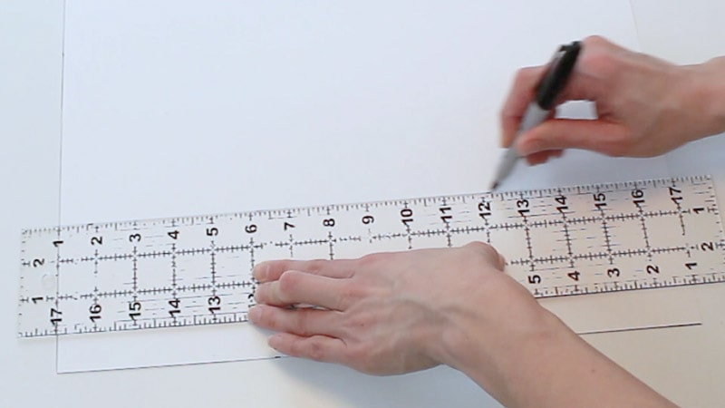draw a line connecting the measurements