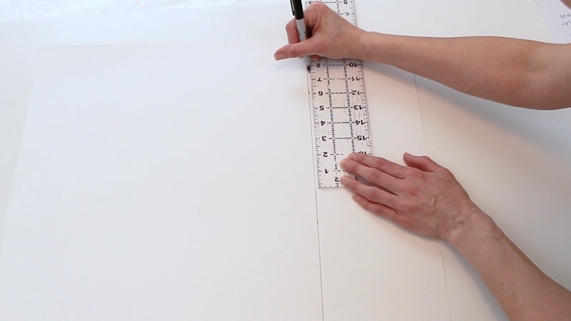 measure up 25 and half inches up on poster board