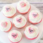 Easy Valentine's Cupcake Toppers