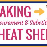 Printable Baking Measurement & Substitution Cheat Sheet