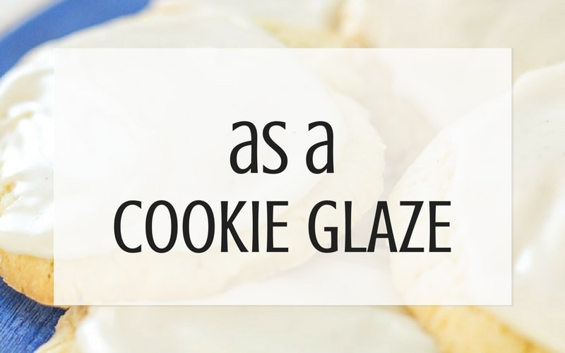 use buttercream as cookie glaze graphic