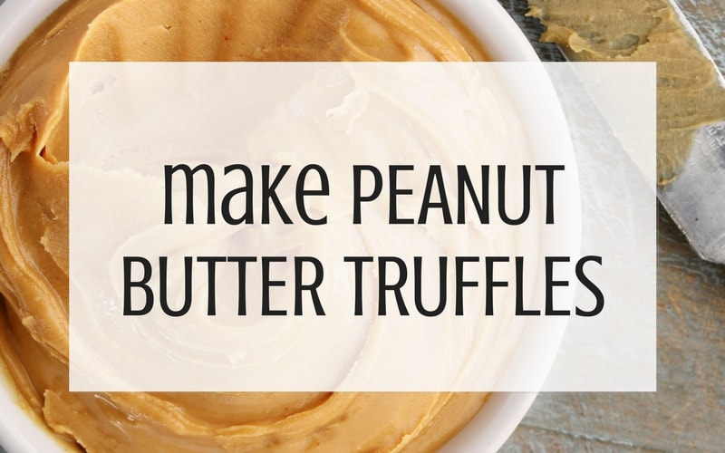 use leftover buttercream to make peanut butter truffles graphic