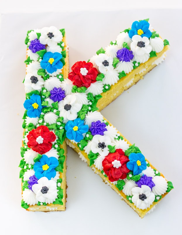 Floral Initial Cake