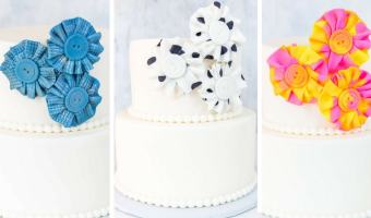 Fondant Fabric-Look Flowers