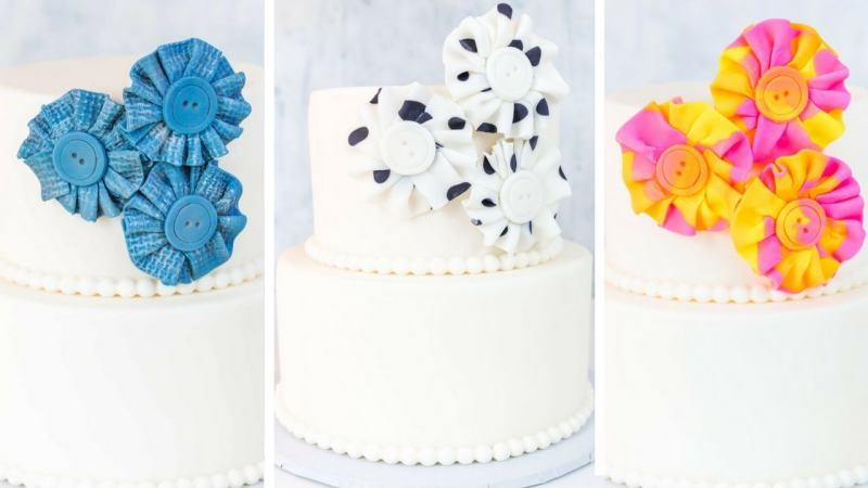 Fondant Fabric Look Flowers blog header graphic