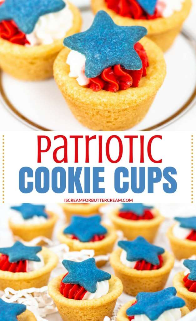 Patriotic Cookie Cups Pinterest Graphic
