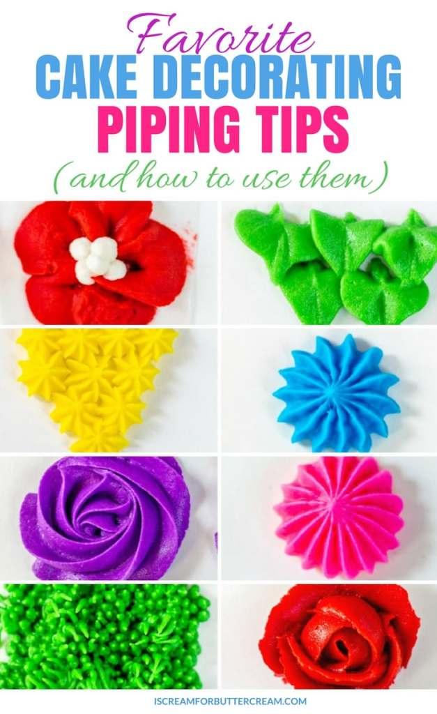 Favorite Cake Decorating Piping Tips Pin