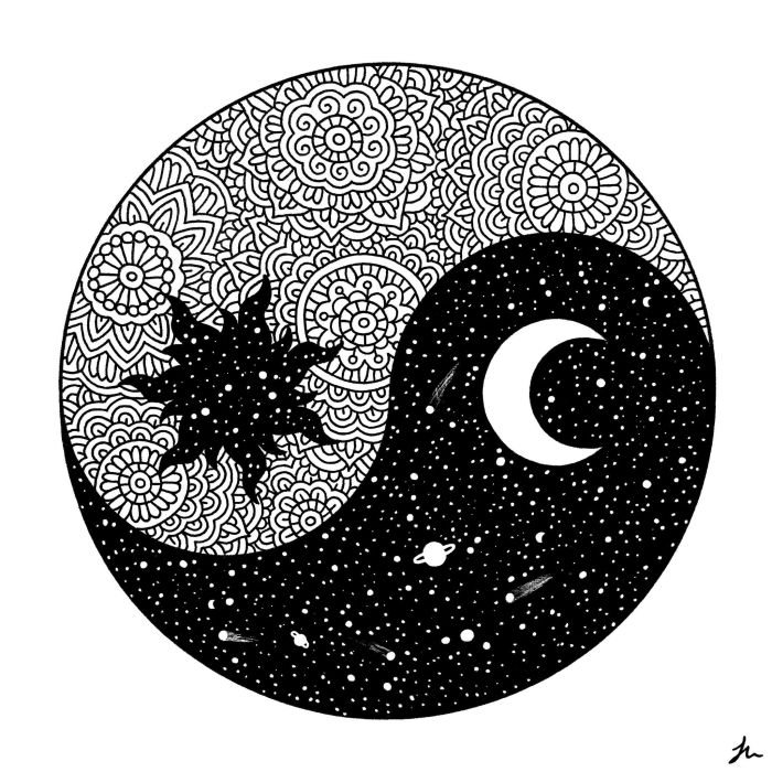yin and yang art