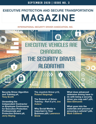 The September Issue of the Executive Protection and Secure Transportation Magazine