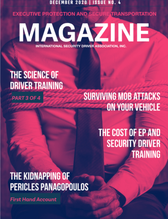 EPST Magazine December 2020 Issue highlights George Sardelis' first hand account of his and his principal's kidnapping.