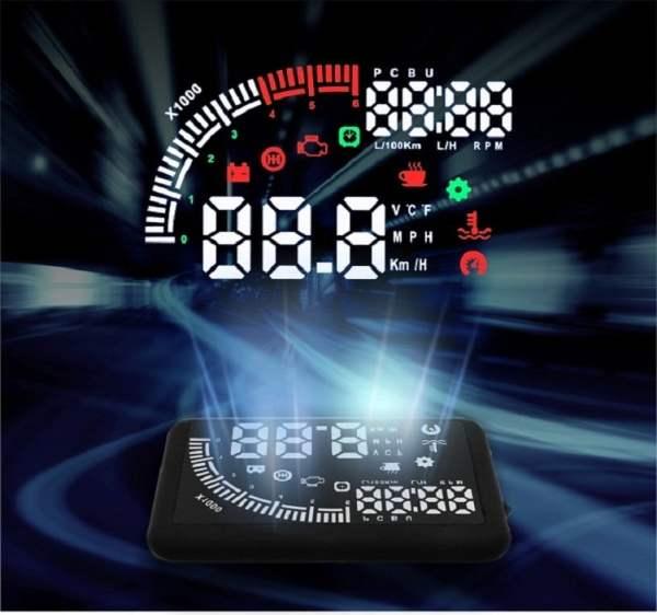 Car head up display Universal 5.5-inch LCD HUD 1 -