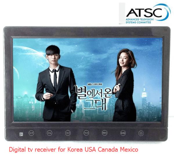 VCAN1116 10 inch portable ATSC LCD TV monitor HD FTA digital TV receiver decoder tuner with antenna 1 -