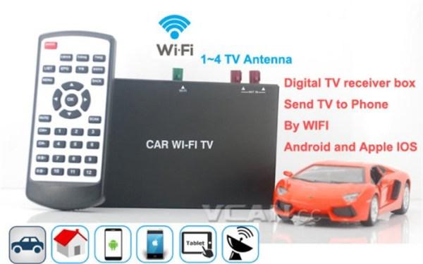 Car Wifi TV Digital TV Receiver Box send TV 1 -