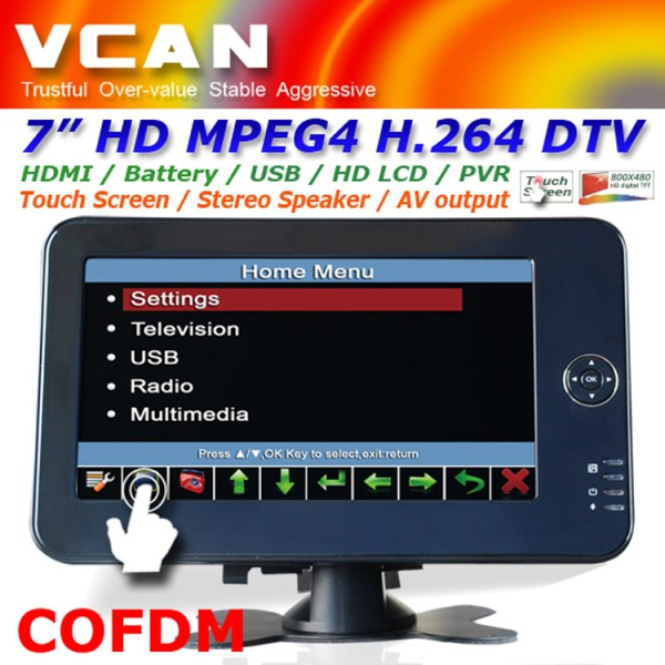 7 inch handheld HD wireless COFDM receiver portable 11 -