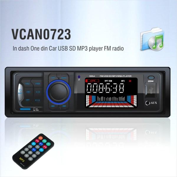 In dash One din Car USB SD MP3 player FM radio 3 -