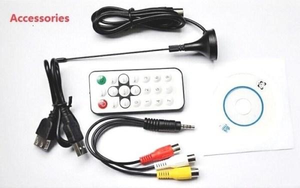 VCAN1090 USB Digital DVB-T2 DVB-T TV Analog TV DVB-C FM DAB TV stick PC use 5 -