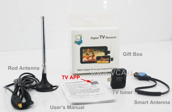 DVB-T2S Micro USB Digital DVB-T DVB-T2 TV Tuner Receiver 6 -