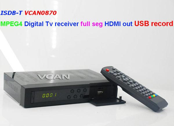 VCAN0870 ISDB-T MPEG4 digital tv receiver 8 -