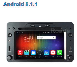Alfa Romeo android GPS VCAN1443 Quad Core 5.1.1 Car DVD GPS for 159 Sportwagon Spider Brera 1 -