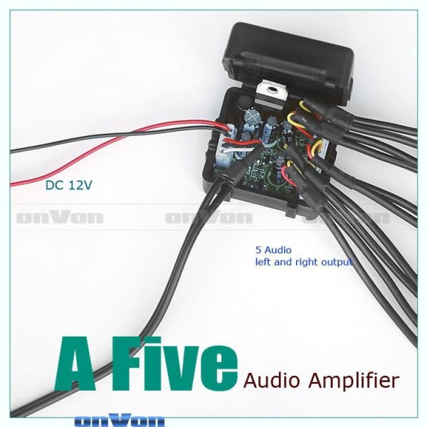 Audio Distribution signal Splitter Amplifier distribute 5 Output 3 -