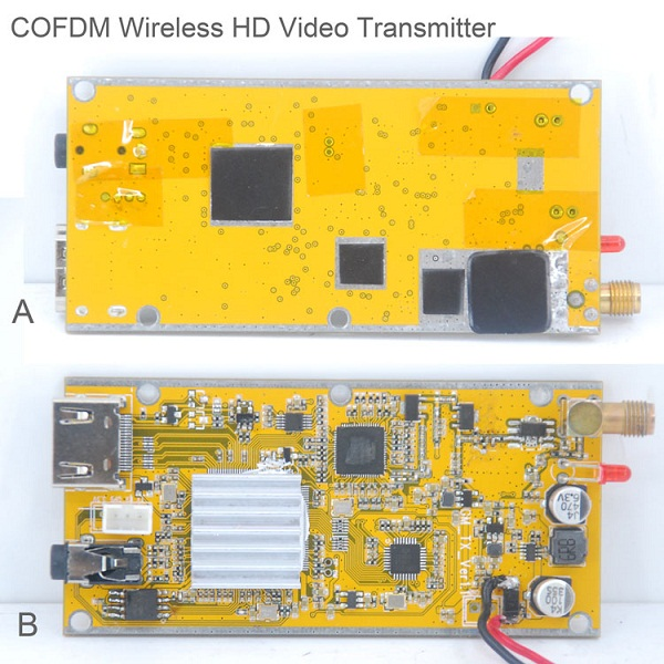 COFDM-902T COFDM HD Wireless composite Video Transmitter 1080P CVBS SD 720P 3 -