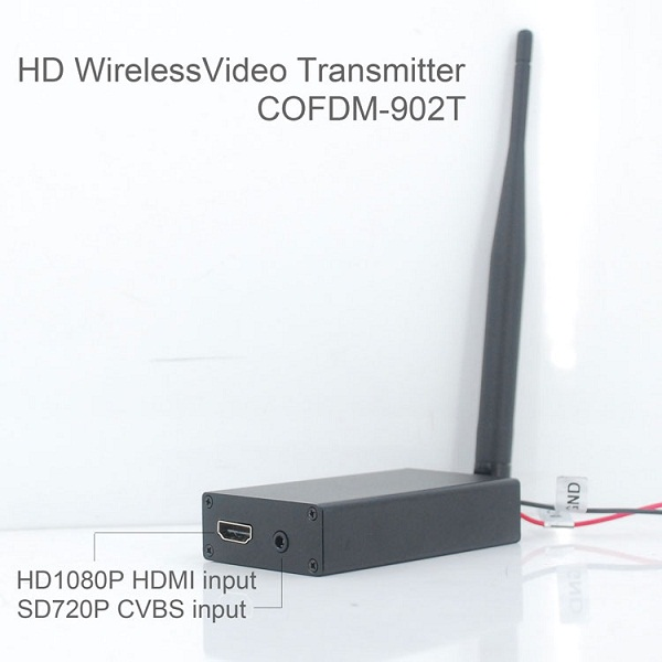 COFDM-902T COFDM HD Wireless composite Video Transmitter 1080P CVBS SD 720P 2 -