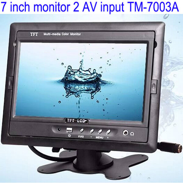 Car 7 inch TFT LCD Monitor 2CH Video Input for rear view camera TM-7003A 1 -