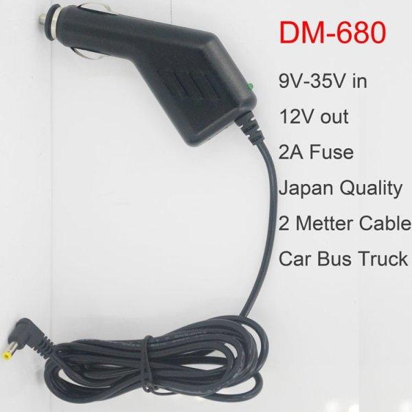 9V-35V Car power Cigarette Lighter truck bus 2A 2meter cable DM-680 1 -