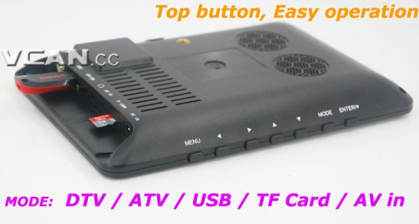 7 DVB-T2 7 inch Digital TV monitor Analog TV USB TF MP5 player AV in Rechargeable Battery 4 -