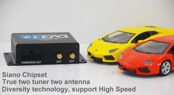 Car DVB-T2 Digital TV receiver two tuner dual antenna  high speed 3 -